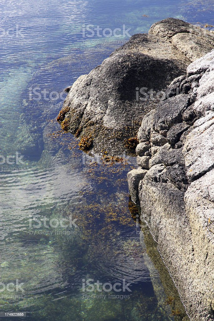 Rocks and Waves stock photo
