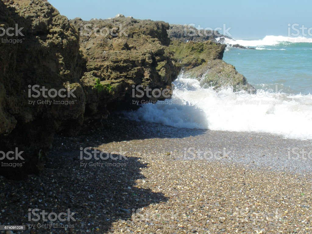 roches et vagues royalty-free stock photo