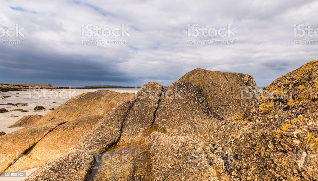 Rocks at Beach Sennen Cove stock photo
