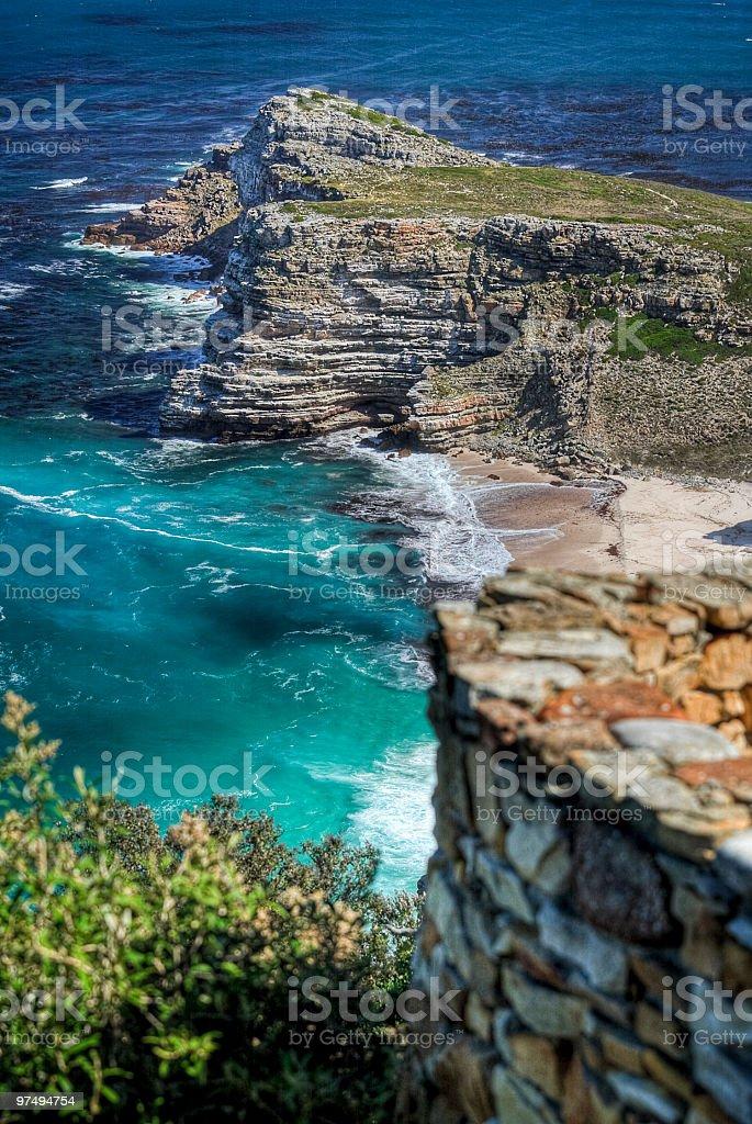 rocks at Cape of Good Hope royalty-free stock photo
