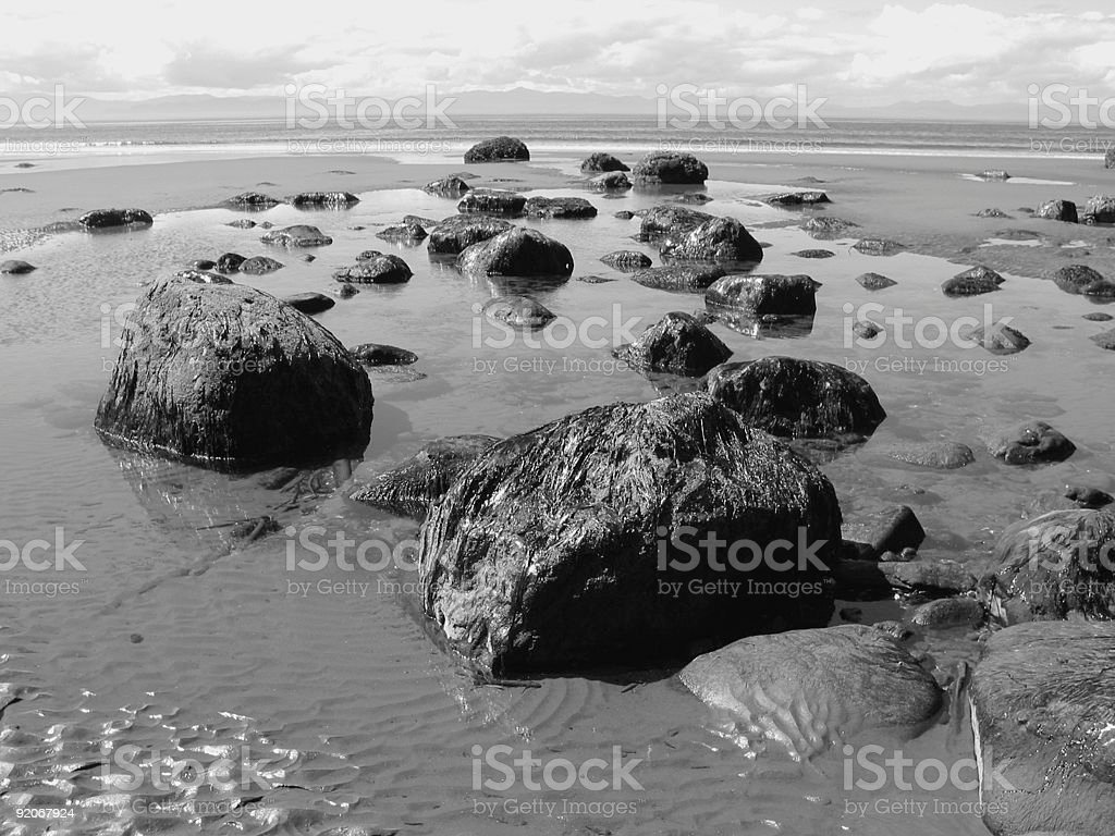 Rocks at Low Tide royalty-free stock photo