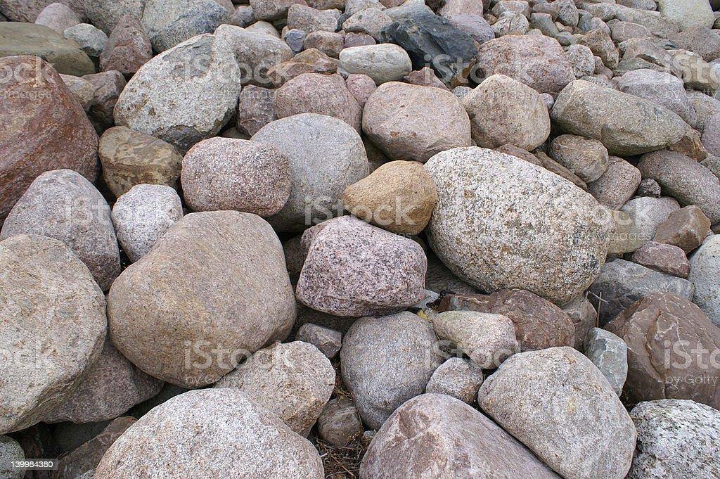 Rocks at shore royalty-free stock photo