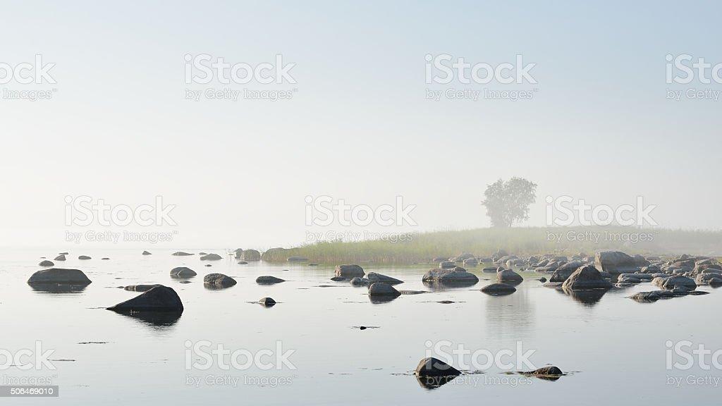 Rocks at the coast of Kasmu (captain's village), Estonia stock photo