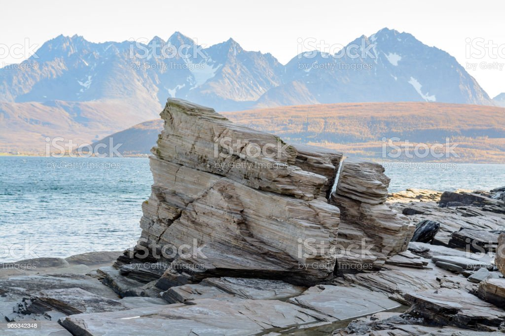 Rocks at the shore royalty-free stock photo