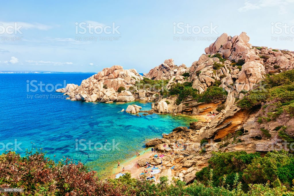 Rocks Capo Testa Santa Teresa Gallura Mediterranean sea stock photo