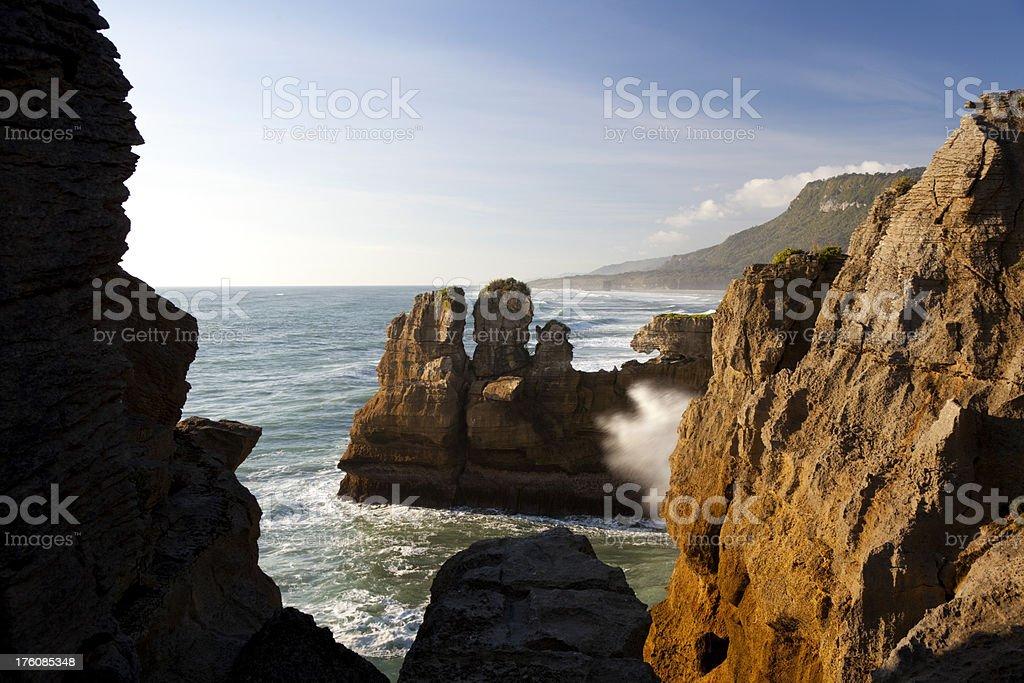 Rocks & Cliffs Of Punakaiki stock photo