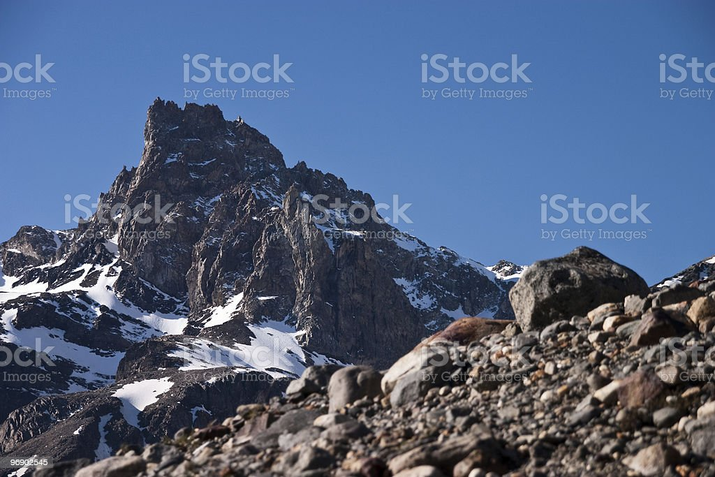 Rocks close to Cerro Torre royalty-free stock photo