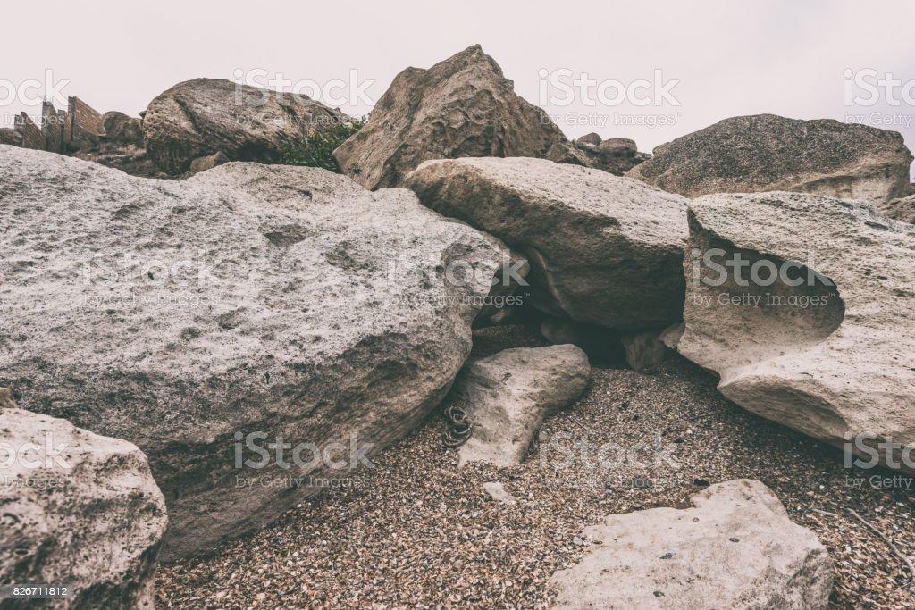 Rocks, huge stones stock photo