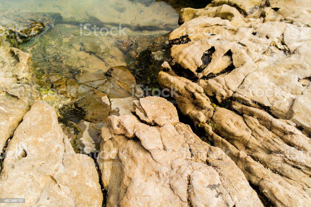 Rocks in a shallow water zbiór zdjęć royalty-free
