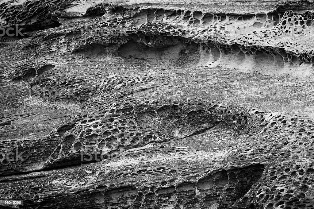 Rocks in black and white royalty-free stock photo