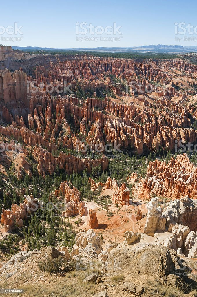 Rocks in Bryce National Park royalty-free stock photo
