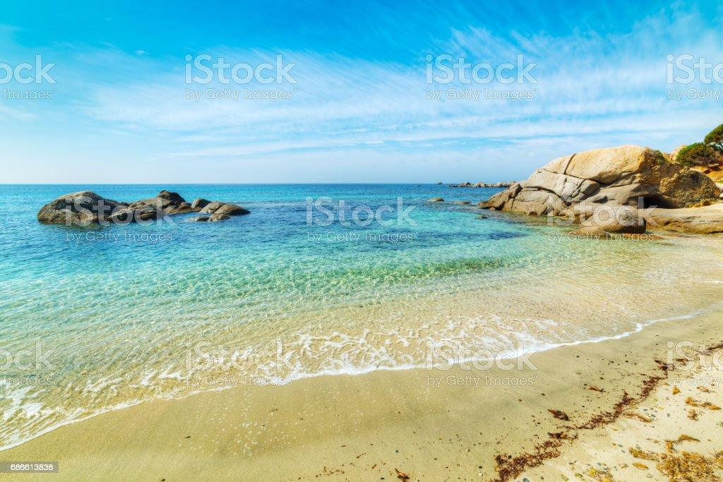 Rocks in Cala Caterina shore royalty-free stock photo