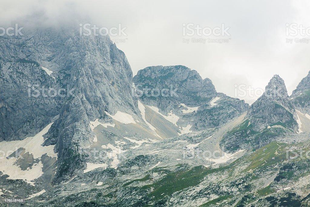 Rocks in Julian Alps royalty-free stock photo