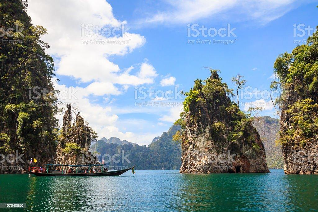 Rocks in Khao Sok National Park stock photo