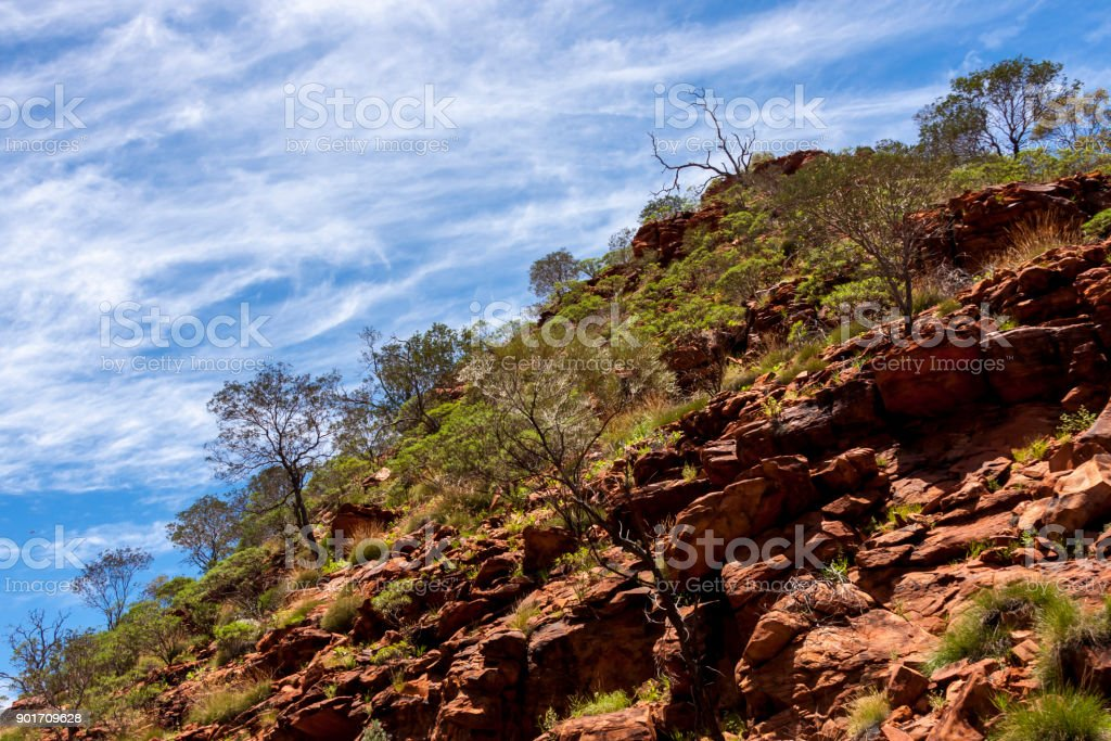 Rocks in Kings Canyon,  Northern Territory, Watarrka National Park,  Australia stock photo