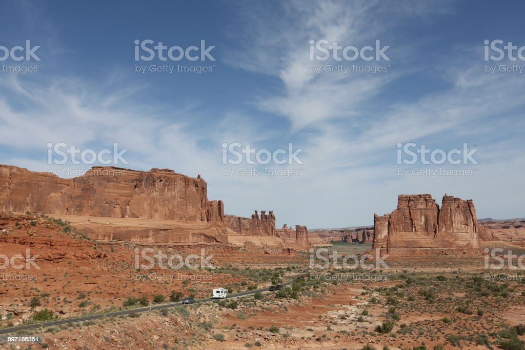 Rocks in Monument Valley stock photo