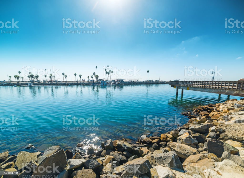 Rocks in Oceanside stock photo