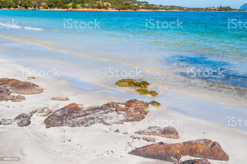 Rocks in Porto Istana beach royalty-free stock photo