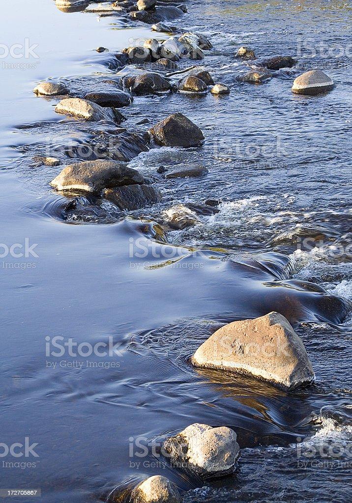 Rocks in river royalty-free stock photo