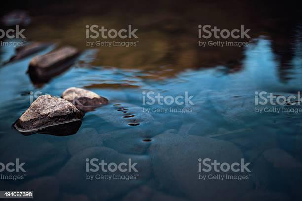 Photo of Rocks in slow rinnig stream