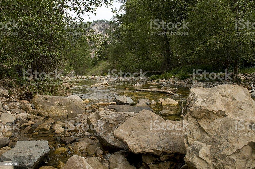 Rocks in Spearfish Canyon stock photo
