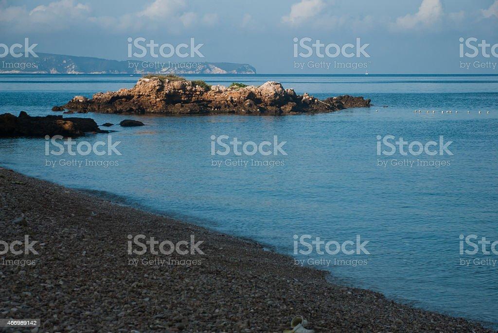 Rocks in the Adriatic Sea - Komiza - Croatia stock photo