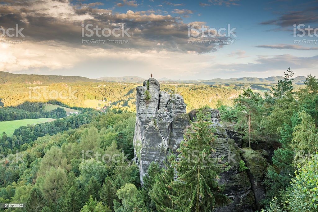 Rocks in the Elbe Sandstone Mountains stock photo