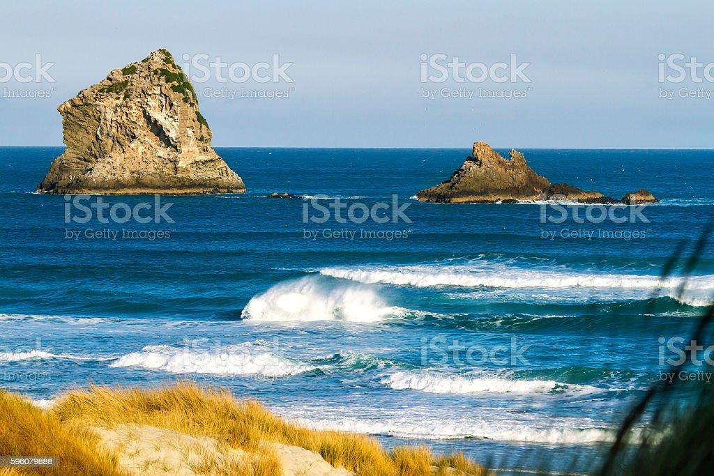 Rocks in the ocean royalty-free stock photo