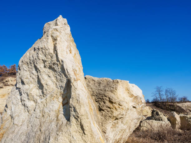 Rocks in the Quarry Felsen im Steinbruch tagebau stock pictures, royalty-free photos & images