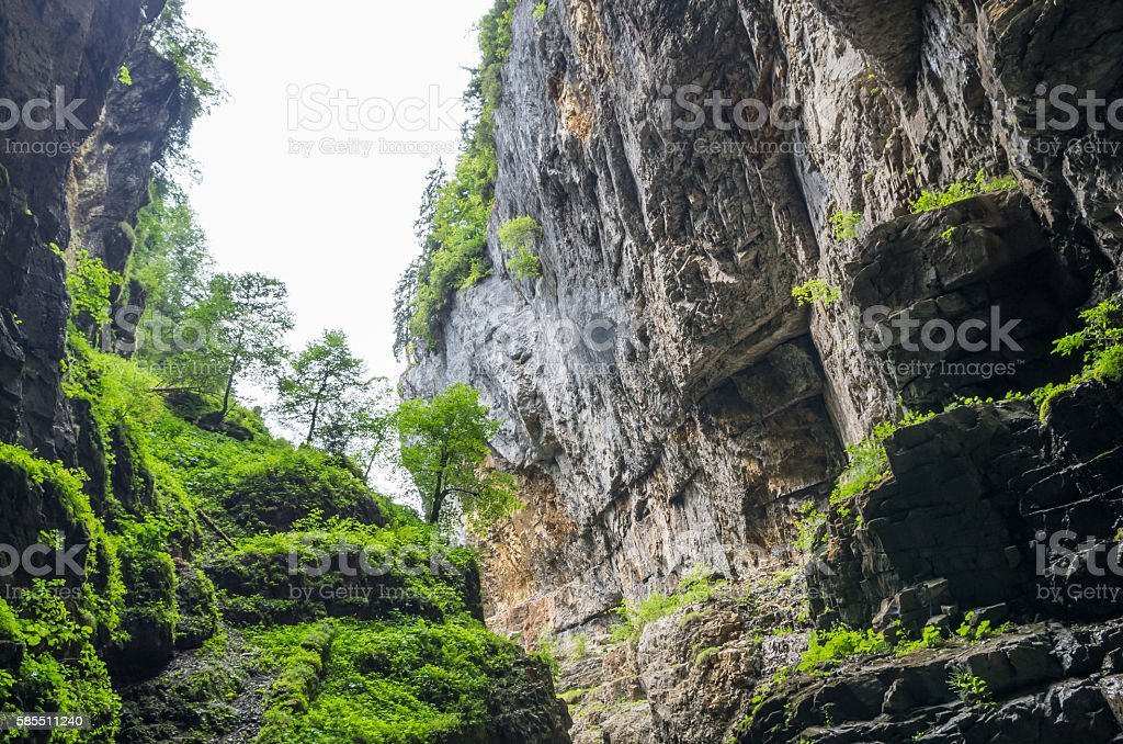 Felsen in der Breitachklamm (Oberstdorf) - Lizenzfrei Allgäu Stock-Foto
