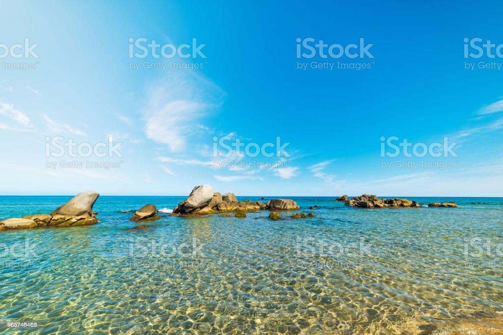 Rocks in the water in Orri beach - Royalty-free Beach Stock Photo