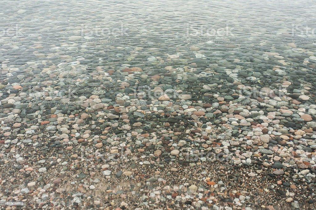 Rocks in Water stock photo