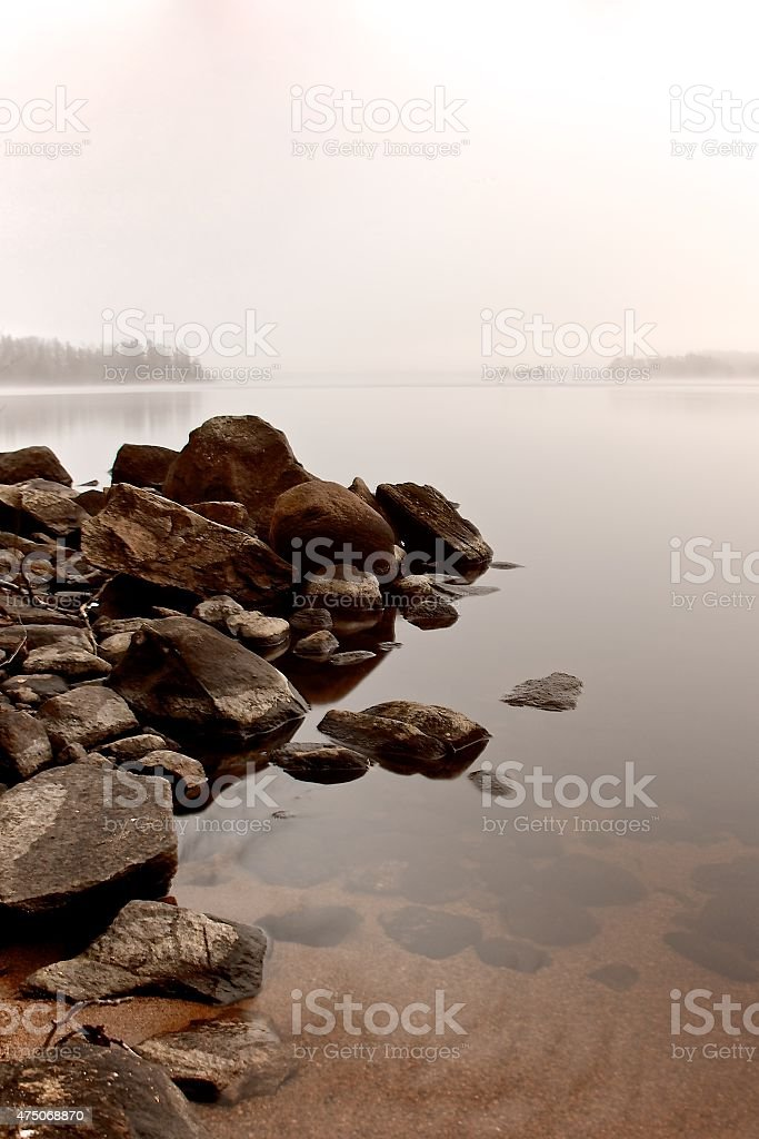 Rocks in water stock photo