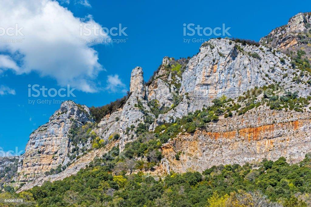 Rocks of Sierra de Leyre stock photo
