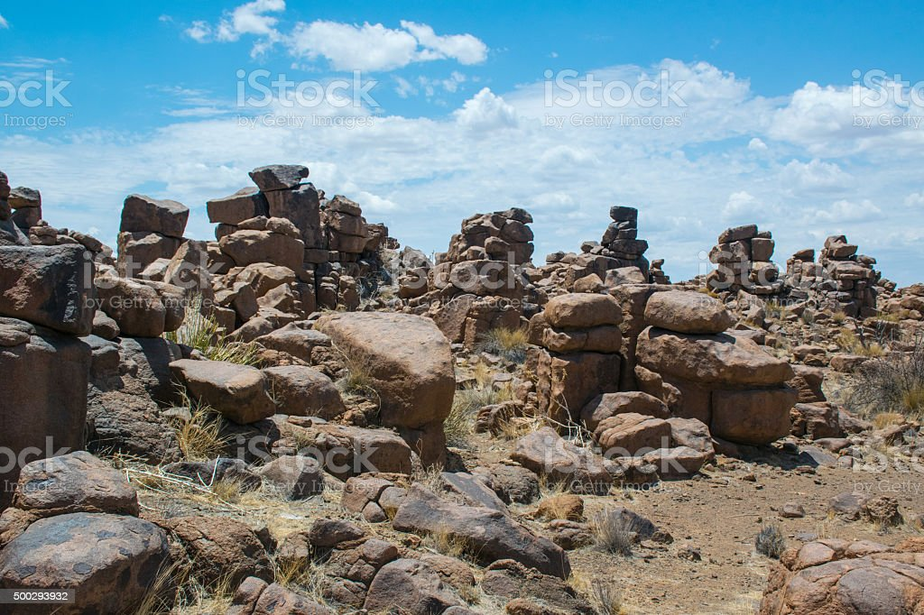Rocks of the Giants Playground, Namibia stock photo