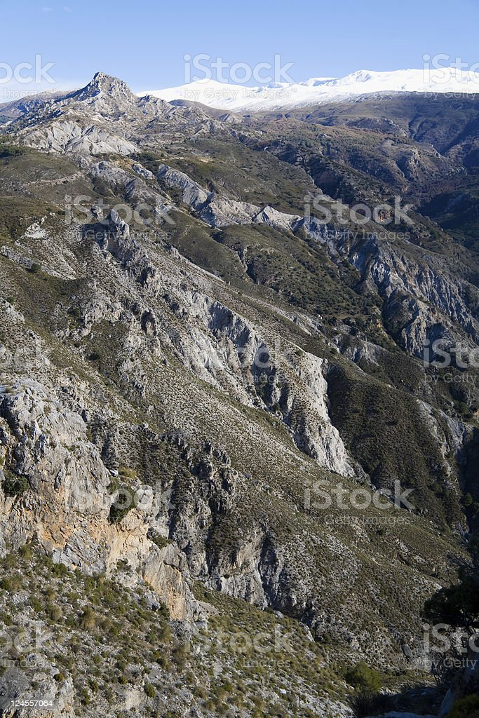 Rocks of the Sierra Nevadas, Andalusia, Spain stock photo