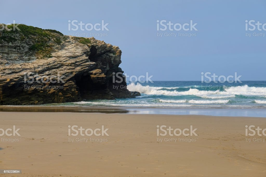 Rocks on a beach royalty-free stock photo