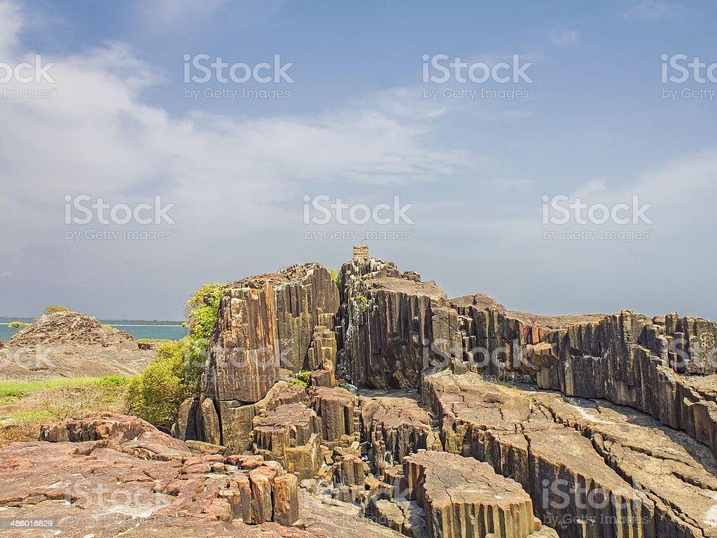 Rocks on an Island stock photo
