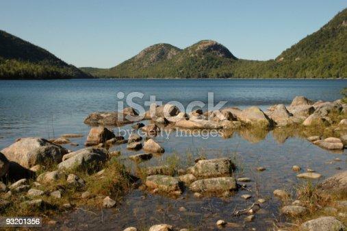 istock Rocks on Jordon Pond 93201356
