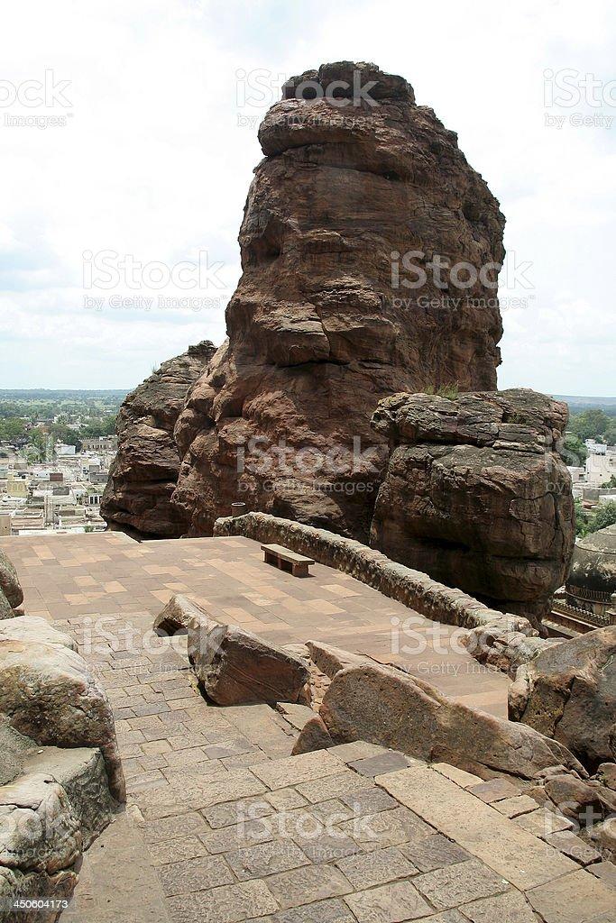 Rocks on Mountain Edge royalty-free stock photo