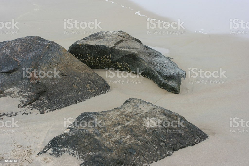 Rocks on the Beach royalty-free stock photo