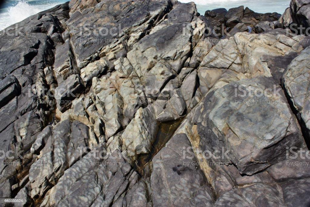 Rocks on the coast texture of stone royalty-free stock photo