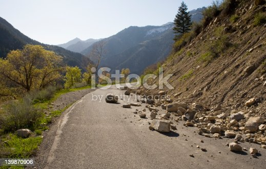 istock Rocks on the road 139870906