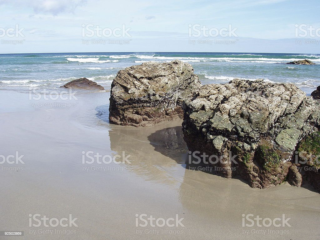 rocks on the sand royalty-free stock photo