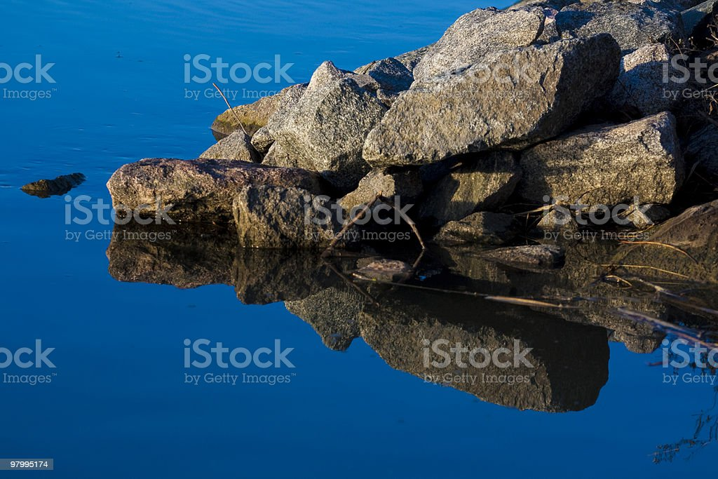 Rocks on the shore royalty-free stock photo