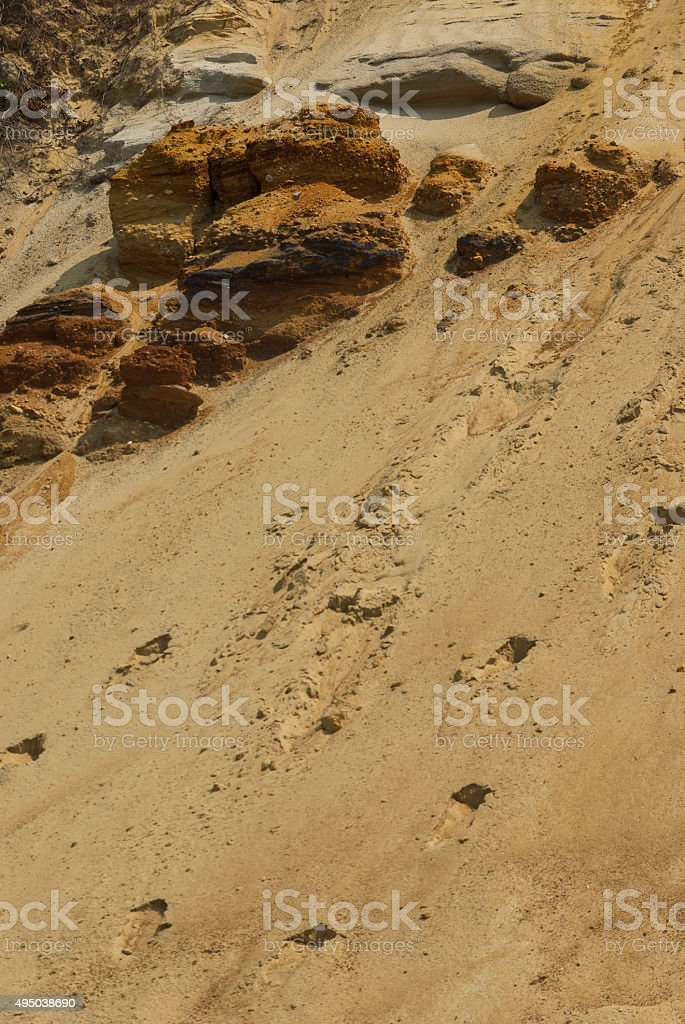 Rocks, sand and stone texture stock photo