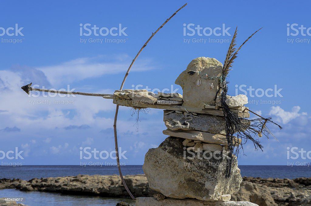 Rock's sculptures stock photo