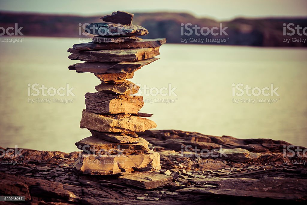Rocks that guide for travelers. stock photo