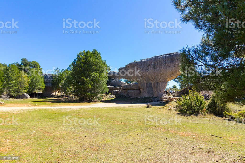 Rocks with capricious forms in the enchanted city Cuenca, stock photo