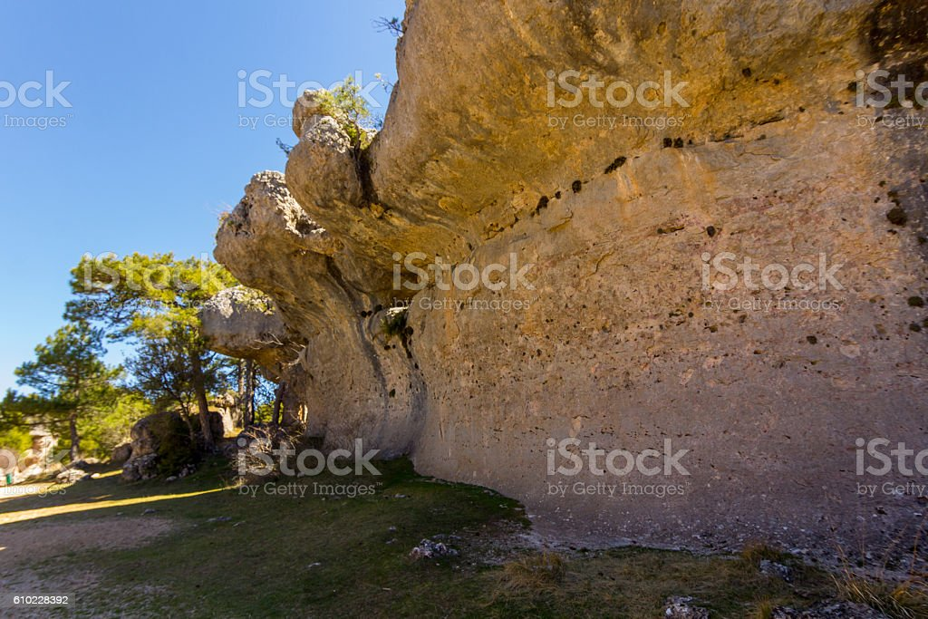 Rocks with capricious forms in the enchanted city of Cuenca, stock photo